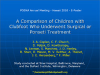 A Comparison of Children with Clubfoot Who Underwent Surgical or Ponseti Treatment